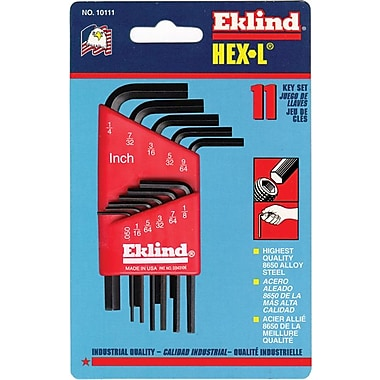 Eklind® Tool Hex-L® 13 Pieces Short Arm Hex Key Set, 0.050 - 3/8in.