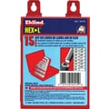 Eklind® Tool Hex-L® 18 Pieces Short Arm Hex Key Set, 0.028 - 5/8in.