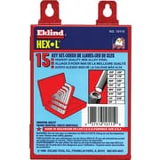 Eklind® Tool Hex-L® 18 Pieces Short Arm Hex Key Set, 0.028 - 5/8""