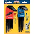Eklind® Tool Ball-Hex-L™ 22 Pieces Hex Ball Long Arm Hex Key Set, 1.5 - 10 mm, 0.050 - 3/8""