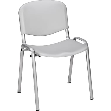 Staples® Norwell Plastic Stacking Cafeteria Chair, Grey