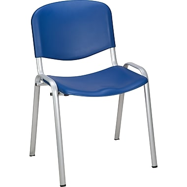 Staples® Norwell Plastic Stacking Cafeteria Chair, Blue