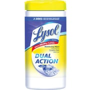Lysol® DUAL ACTION™ Disinfecting Wipes, Citrus Scent, 75 Wipes/Tub