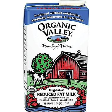 Organic Valley 2% Reduced Fat Milk, 1 Liter