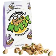 Everybody's Nuts!® Pistachios, Salt & Pepper, 1.5 oz. Bags, 48 Bags/Box