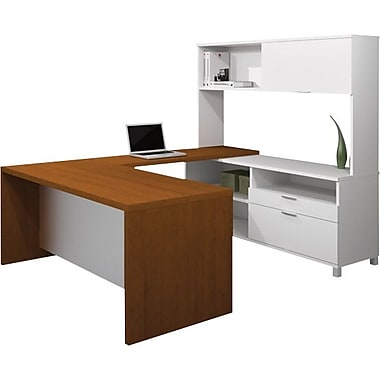 Bestar Pro-Linea U-Workstation w/ Hutch