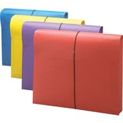 Smead® Antimicrobial Colored Expanding Wallets, Letter Size, Assorted Colors