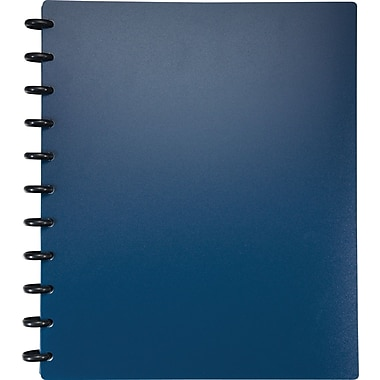 Staples® Arc Customizable Durable Poly Notebook System, Navy, 9-3/8