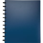 M by Staples™ Arc Customizable Durable Poly Notebook System, Navy, 9-3/8 x 11-1/4