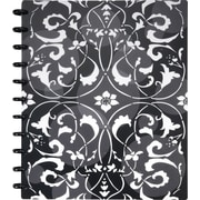 "Staples® Arc Customizable Flower Circle Design Notebook System, Black & White, 9-3/8"" x 11-1/4"""