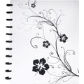 M by Staples™ Arc Customizable Hibiscus Design Notebook System, Black & White, 9-3/8in. x 11-1/4in.