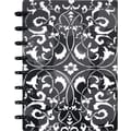 M by Staples Arc Customizable Flower Circle Design Notebook System, Black & White, 6-3/8' x 8-3/4in.