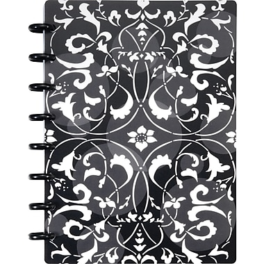 Staples® Arc Customizable Flower Circle Design Notebook System, Black/White, 6-3/8' x 8-3/4