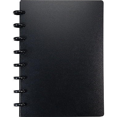 M by Staples™ Arc Customizable Durable Poly Notebook System, Black, 6-3/8in. x 8-3/4in.