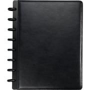 M by Staples™ Arc Customizable Leather Notebook System, Black, 6-3/4 x 8-3/4