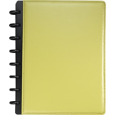 M by Staples™ Arc Customizable Leather Notebook System, Green, 6-3/4in. x 8-3/4in.