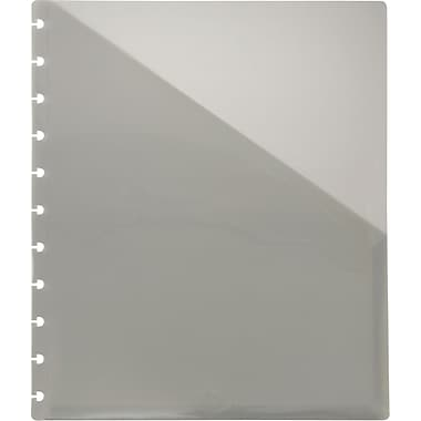 M by Staples™ Arc System Pocket Dividers, Smoke, 9-1/4in. x 11-1/10in.