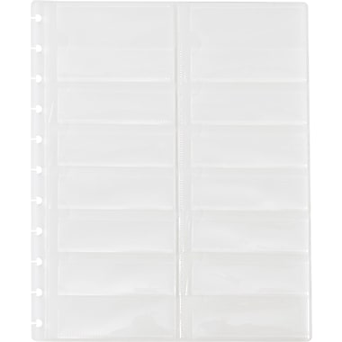 M by Staples™ Arc System Business Card Holders, Clear, 8-1/2in. x 11in.