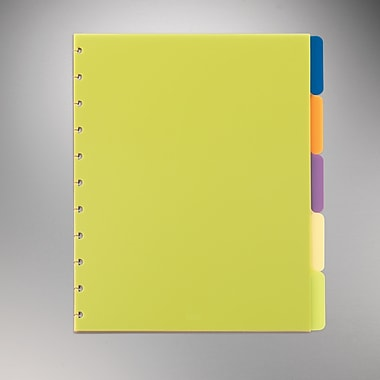 M by Staples™ Arc System Tab Dividers, Assorted Colors, 9in. x 11in.