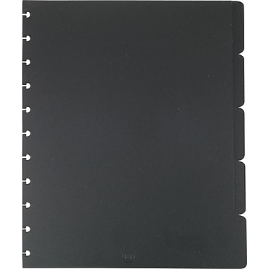 M by Staples™ Arc System Tab Dividers, Black, 9in. x 11in.