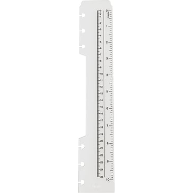 M by Staples Arc System Durable Poly Ruler, Letter Size
