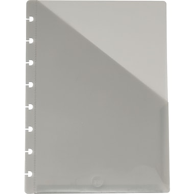 M by Staples™ Arc System Pocket Dividers, Smoke, 6-1/5in. x 8-3/5in.