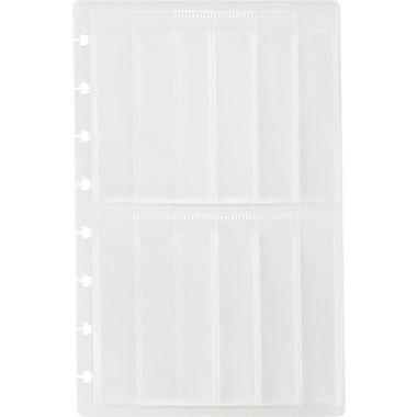 M by Staples™ Arc System Business Card Holders, Clear, 5-1/2in. x 8-1/2in.