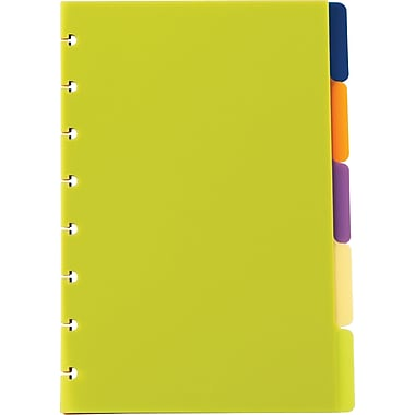 M by Staples™ Arc System Tab Dividers, Assorted Colors, 5-5/6in. x 8-1/2in.