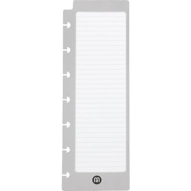 "M by Staples™ Arc System Task Pads, White and Gray, 2-1/2"" x 6-7/10"""