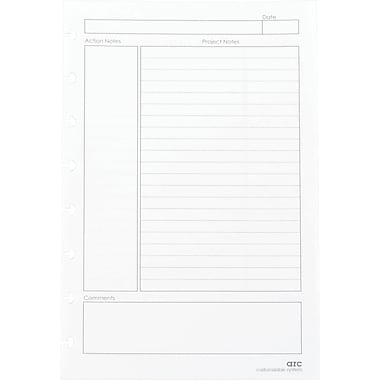Staples® Arc System Project Planner Premium Refill Paper, White, 5-1/2