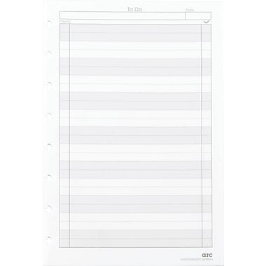 "M by Staples™ Arc System in.To-Doin. Refill Paper, White, 5-1/2"" x 8-1/2"""