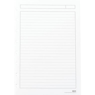 M by Staples™Arc System Reinforced Narrow Ruled Premium Refill Paper, White, 5-1/2