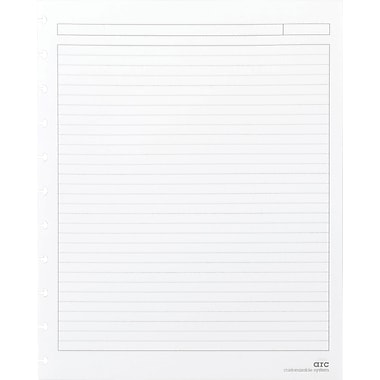 M by Staples™ Arc System Reinforced Narrow Ruled Premium Refill Paper, White, 8-1/2in. x 11in.