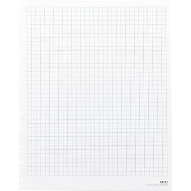 M by Staples™ Arc System Graph-Ruled Premium Refill Paper, White, 8-1/2in. x 11in.
