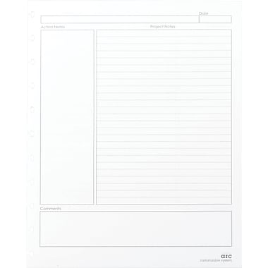 M by Staples™ – Papier de rechange de qualité supérieure du système Arc, planificateur de projets, 8 1/2 po x 11 po, blanc
