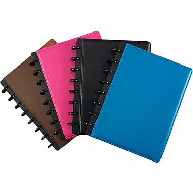 M by Staples™ – Cahier de notes personnalisable Arc en cuir, 120 pages