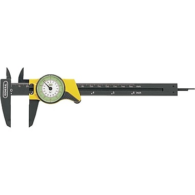 General® Tools Dial Caliper, Reinforced Plastic, 0 - 6in.