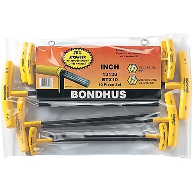 Bondhus® 8 Pieces Ball End Graduated Length Hex Key Set With Stand, 2-10 mm