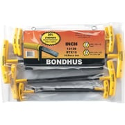 Bondhus® 10 Pieces Ball End Graduated Length Hex Key Set, 3/32-3/8 Inches