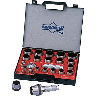 Mayhew™ Tools 27 Pieces Hollow Punch Set, 1/8-2