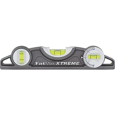Stanley® FatMax® Xtreme™ Torpedo Level, 9 in (L) x 2.8 in (W) x 0.9 in (H)