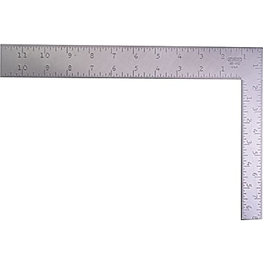 Stanley® Flat Rafter Square, 12 in (L) x 1 1/2 in (W) x 0.1 in (T) Blade