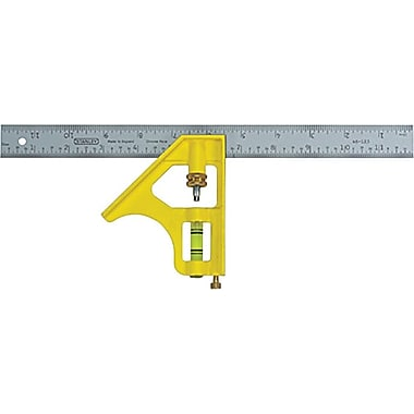 Stanley® Combination Square, 12 in (L) x 5-1/2 in (W) x 3/4 in (T) Blade