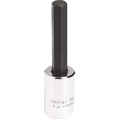 Proto® Ball Locking Socket Hex Bit, 3/8 in Square Drive, 69.1 mm (L), 8 mm x 41.3 mm