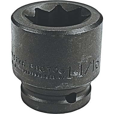 Torqueplus™ Standard Length Pin Locking Box Tip Impact Socket, 3/4 in Square Drive, 1 7/16 in