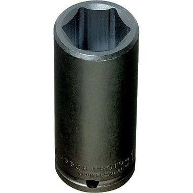 Proto® Torqueplus™ Deep Length Pin Locking Box Tip Impact Socket, 1/2 in Square Drive, 3/4 in