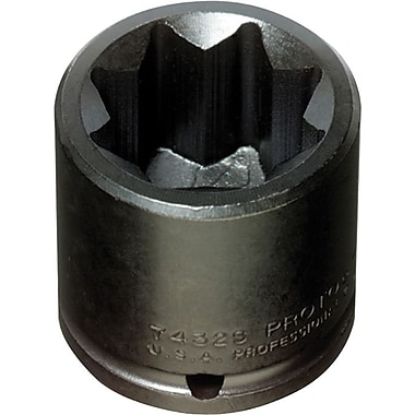 Proto® Torqueplus™ 12 Point Standard Length Pin Locking Impact Socket, 1/2 in Square Drive, 1/2 in