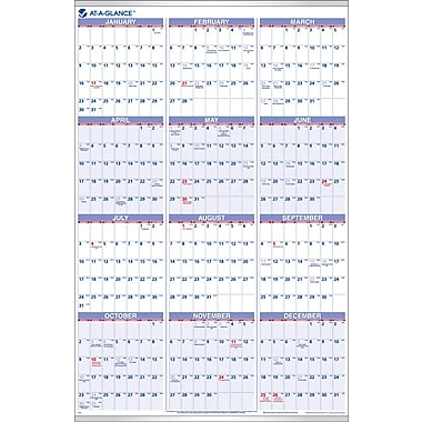"2014 AT-A-GLANCE® Yearly Wall Calendar, 24"" x 36"""