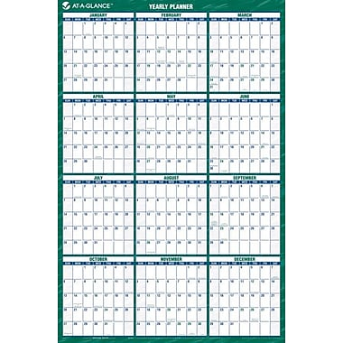 2014 AT-A-GLANCE® Vertical Erasable Wall Planner, 24in. x 36in.