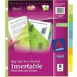 Avery® 119071 Big Tab™ Two Pocket Insertable Plastic Divider, 8 Tab